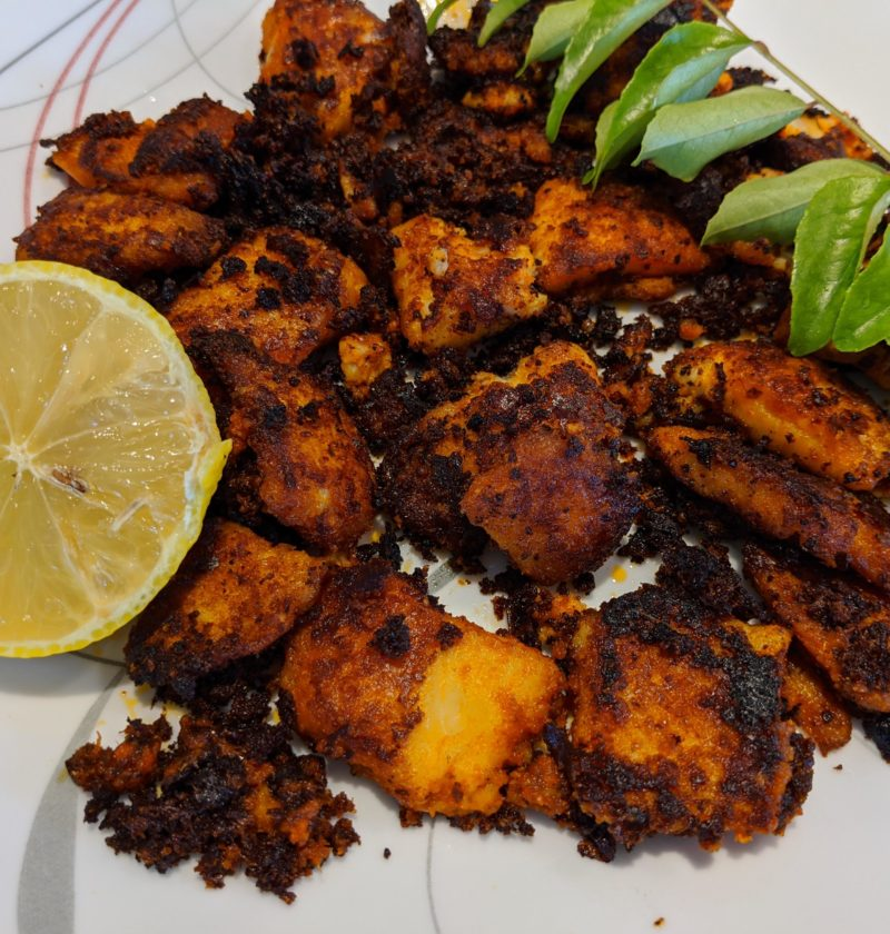 Fried basa fish aka river cobbler, Pangasius