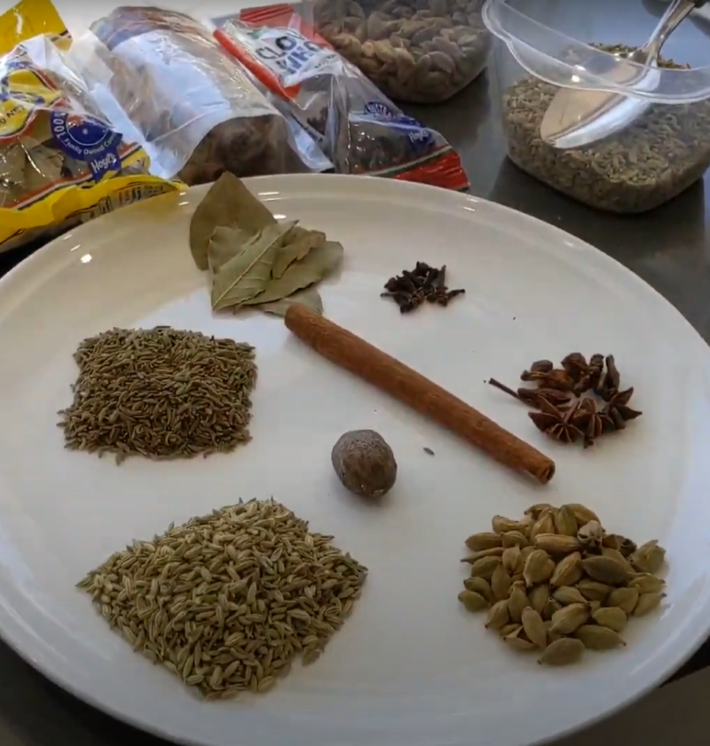 Contents of garam masala
